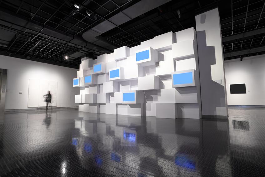 Exhibition Room D : Video wall in a exhibition room gea