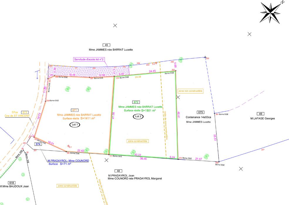 plan de division et de bornage gea. Black Bedroom Furniture Sets. Home Design Ideas