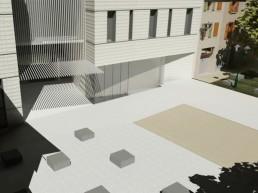Perspective de projet d'architecture
